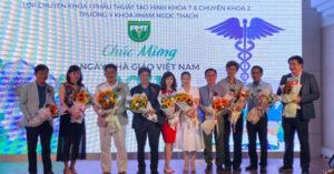 Tiến sĩ – Bác sĩ Nguyễn Thanh Hải trong buổi tri ân ngày nhà giáo Việt Nam